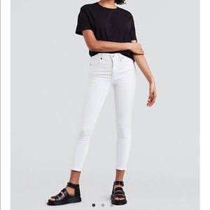 Levi's Mike High Skinny white jeans